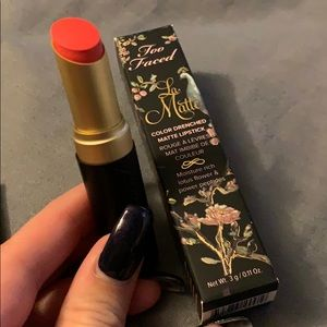 Too faced color drenched matte lipstick NWT